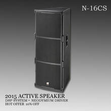 professional active speakers Powerful dual 15 inch speaker pa system