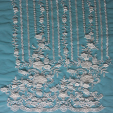 2016 Embroidery wedding net Lace fabric /3D handwork French tulle lace/ /bridal beaded lace