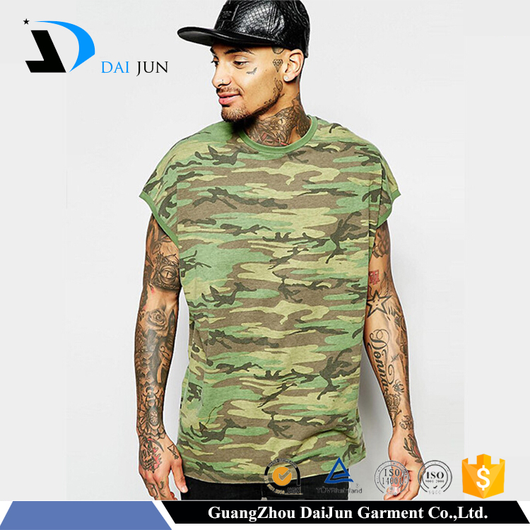 Daijun Forest hide army full printed wholesale cotton digital camo t shirt