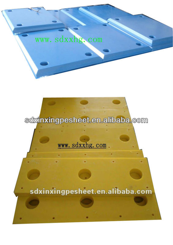 Low water absorption UHMWPE board cap for marine fender