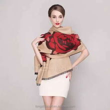 evening gown TS-0001-4 rose scarf fashion viscose scarf shawl and scarves supplier alibaba china