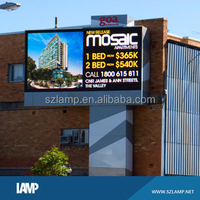 Outdoor light weight front maintenance LED billboard