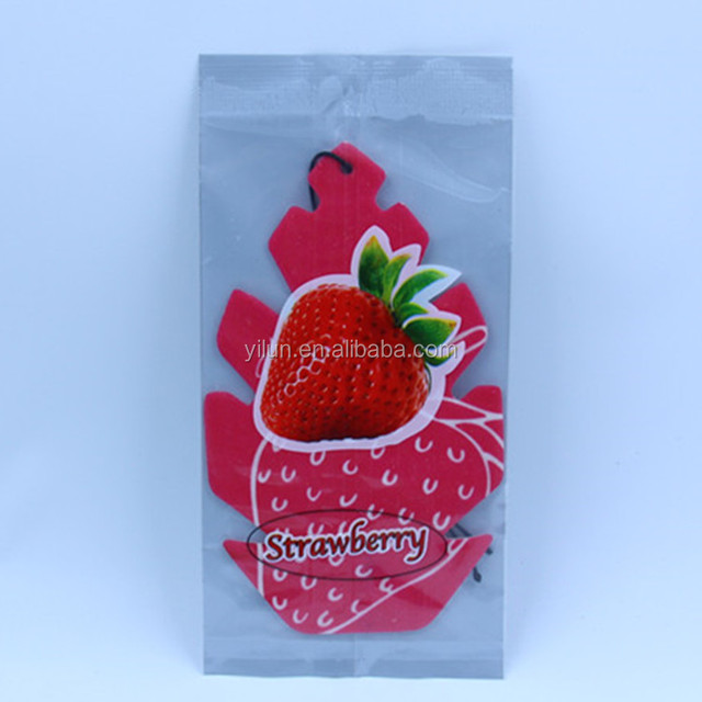 cotton paper magic scented strawberry shape air freshener