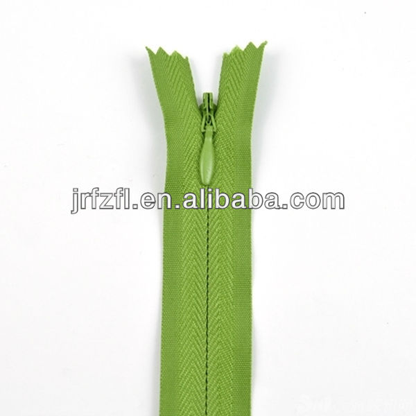 new arrive invisible zipper with elegent slider