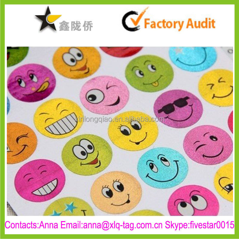 Accept custom adhesive free design glitter face stickers