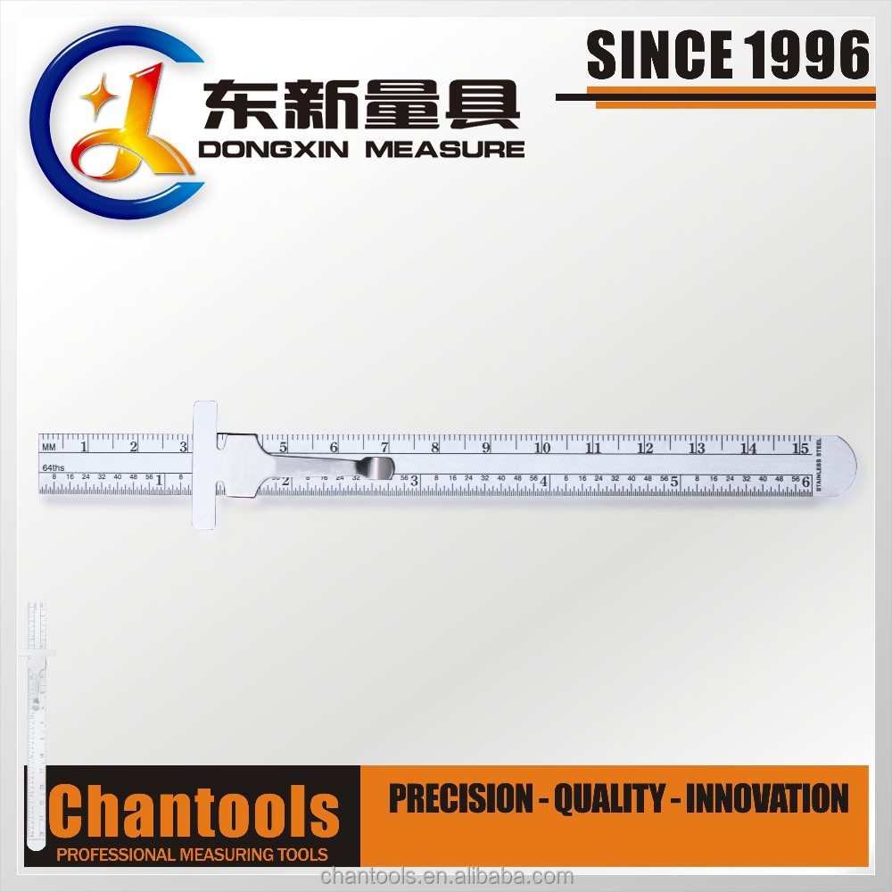 [CHANT] Stainless Steel Depth Gauge/Measuring Ruler 6-INCH