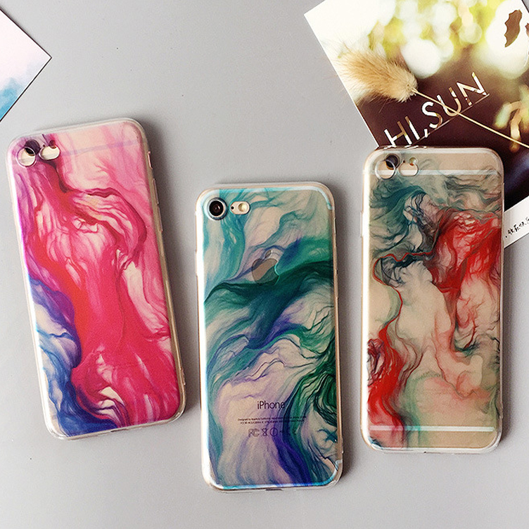 Colorful Rainbow cloud TPU Mobile Phone Case for iPhone 6,Smartphone Accessories for iPhone 6 Cover