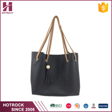 2017 New Style guangzhou wholesale market PU genuine leather tote bags