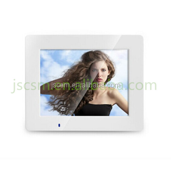 Top factory offer good price for 8inch digital photo frame with remote control and advertising display