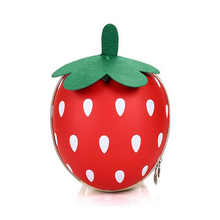 Funny Strawberry Shape Cute Girls Hard Shell School Kids Bag Pack for Little Gir;