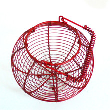 WI1824 wholesale kitchen easter chicken metal wire egg basket
