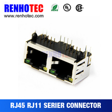 RJ45 Ethernet Enclosure Connector With emi waterproof connector ethernet connection