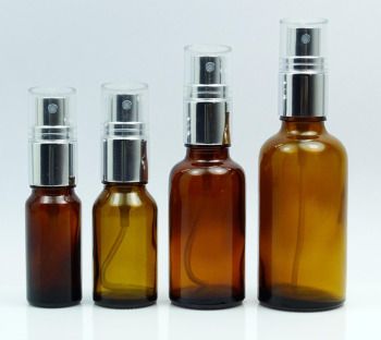 Floral Waters tincture bottles Black Fine Mist Sprayer