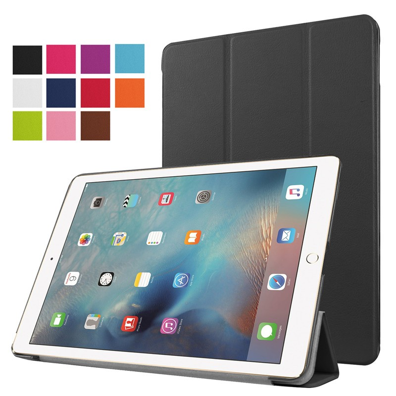 for apple ipad pro 9.7, for apple ipad pro 9.7 three folding stand smart case leather