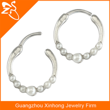 NR01239 Fancy indian peal nose ring jewelry stainless steel jewelry wholesale