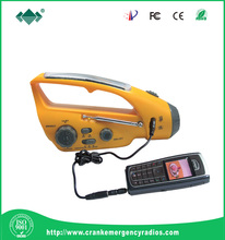 dynamo hand crank radio &USB recharge+phone charger & torch Solar energy Flashlight