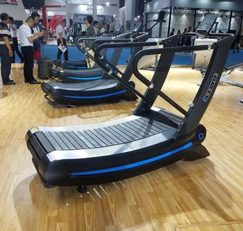 Sport club/Fitness club running trainer treadmill Self-Generating Woodway Curve Treadmill