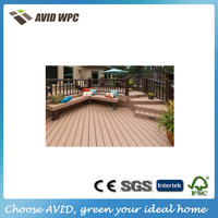 long life and low mainanance wood plastic composite wood decking / outdoor wpc decking for sale