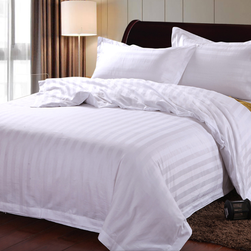 China Products Hotel design javquard bedding set 100% cotton bed <strong>sheet</strong> /quilt/pillowcase/duvet cover
