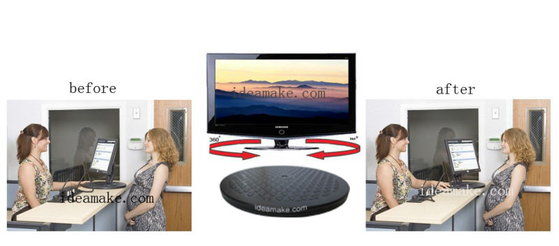 Turn Table 25cm,Swivel stand for TV Monitor