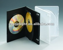 14mm Translucent DVD Case for 3 Disc with Double insert