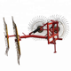 4.8m Working Width 8 Wheels Mounted Hydraulic Trailed Wheel Hay Rake /raker machine