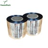 Plastic package bags cookies biscuit printed food packaging film in roll