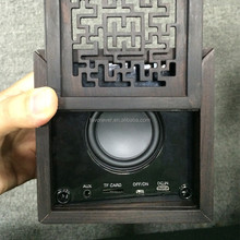 Unique electronic gadgets new for 2015- Chinese style Black wood Bluetooth speaker - Shenzhen Favorever Supplier