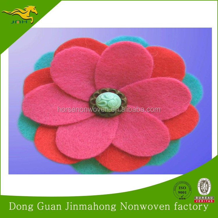 Felt flower/ felt decoration 100 polyester non woven fabric