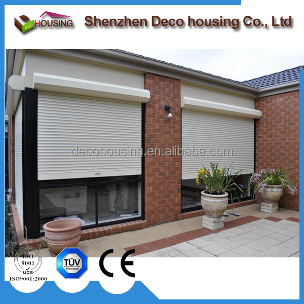 Electric roller shutter exterior window with tubular motor