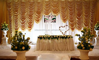 IDA wedding backdrop curtains/wedding backdrop curtains with swag/wedding backdrop crystal