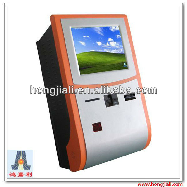 touch screen payment wall mounted kiosk