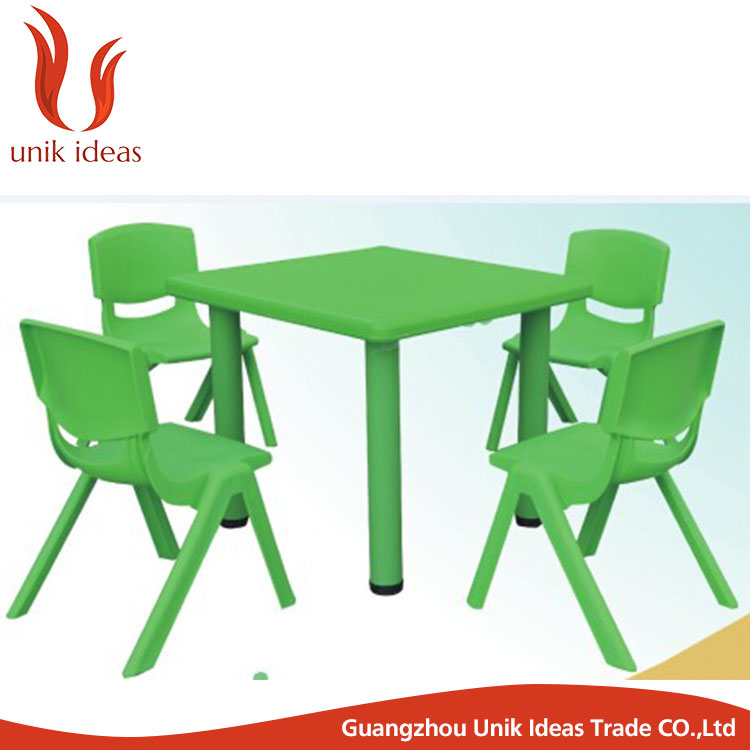 Plastic Kids Study Table and Chair Set for Children Study of Nursery School Furniture