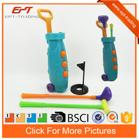 Luxury plastic sport toys golf cart toy play set for kids