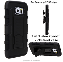 High quality shockproof protective design kickstand rugged armor cover for samsung galaxy s7 case for samsung s7 edge case