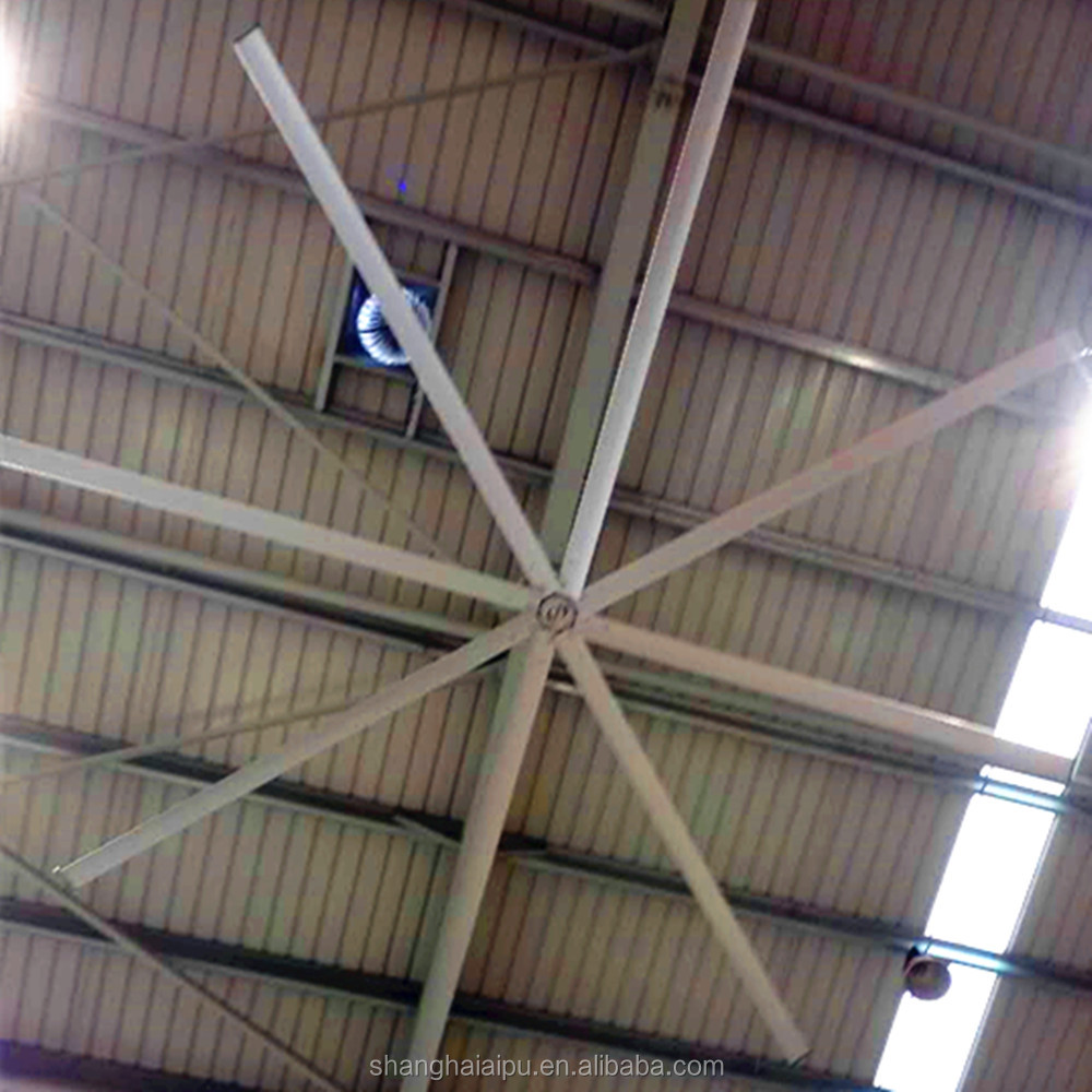 24 Foot Aerodynamics Blades High Volume HVLS Industrial Ceiling Fan