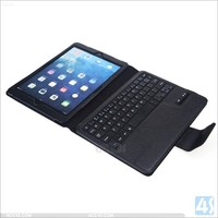 Wholesale PU leather bluetooth keyboard tablet cover case for ipad air 2 , for ipad air 2 bluetooth keyboard stand case