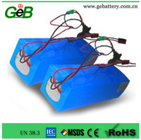 GEB 36V10Ah rechargeable lithium-on battery pack for power electric vehicles