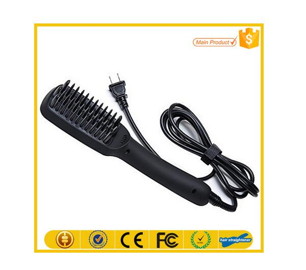 2016 Brush Hair Straightener Comb Digital Temperature Controls Irons Electric Straight Hair Comb