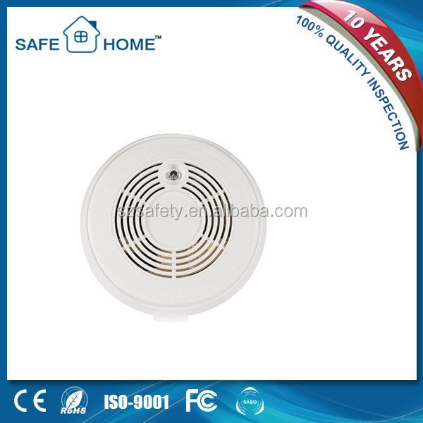 Wireless portable smoke detector fire alarm sensor for GSM/PSTN alarm system