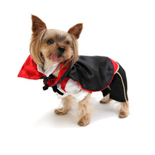 Dog Halloween Vampire Cloak Funny Festival Costumes