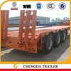 Shandong trucks and trailers utility 60ton low bed semi trailer