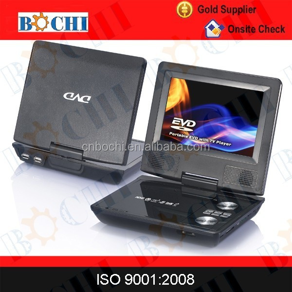 Large screen car portable dvd player with digital TV tuner/FM interchangeable type