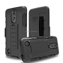 Combo 3 in 1 holster shockproof case for LG LV3 K8 2017, Hybrid case for LG MS210