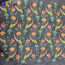 OLF0139 fashion wholesale multi color textile bird with flower lace for ladies clothes