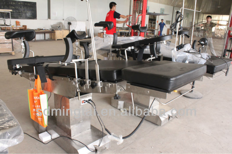 Surgical instrument electric treatment table