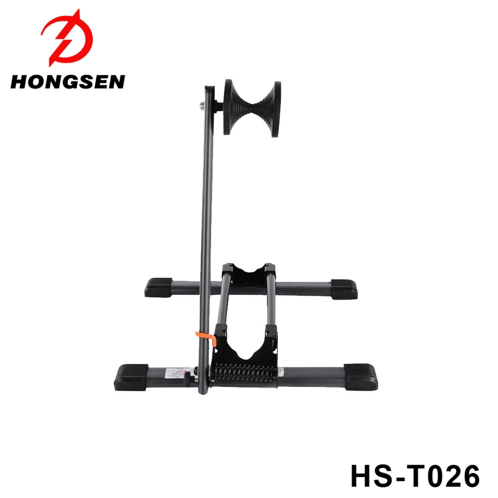 HS-T026 Customized Color Alloy Folding Bicycle parking rack tires bike rack on floor