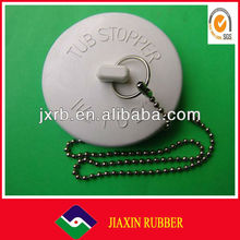 Rubber products tub stopper with chain