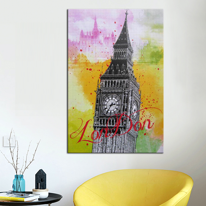 Famous European Architecture Poster Printed Canvas Wall <strong>Art</strong>