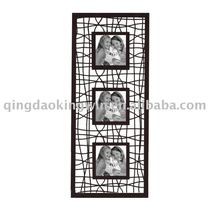 3-Opening Metal Wall Collage Photo Frame in Powder Coated